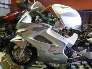 And maybe I'll replace the worst fairing damage from the PPO's crash?