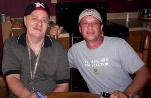 The late Vern Gosdin and Steve Oliver courtesy of Donna Bridges
