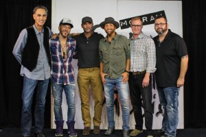 Pictured L-R: David Ross (President/CEO, Reviver Records), Chris Lucas of LOCASH, Tim McGraw, Preston Brust of LOCASH, John Ozier (GM Creative, ole), and Randall Foster (Sr. Director Creative Licensing, ole)