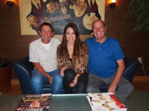 Pictured following the signing are (l. to r.) - Greg Oswald, WME; Chelsea Bain; Keith Miller, WME.