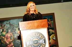 NASHVILLE, TN - JUNE 30:  Trisha Yearwood speaks during the Trisha Yearwood: The Song Remembers When exhibition opening at the Country Music Hall of Fame and Museum on June 30, 2015 in Nashville, Tennessee.  (Photo by Rick Diamond/Getty Images for Country Music Hall Of Fame & Museum)