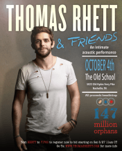 Thomas Rhett Charity Concert, October 4