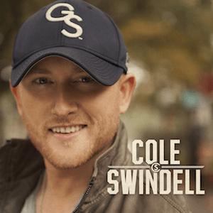 Cole Swindell, in his distinctive Georgia Southern baseball cap