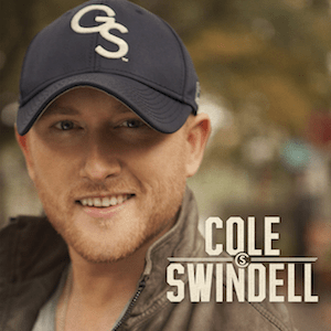 Cole Swindell, in his distinctive Georgia Southern baseball cap