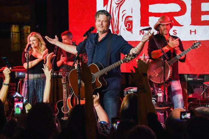 Blake Shelton Throws Star-Studded Party for Ole Red Nashville Opening