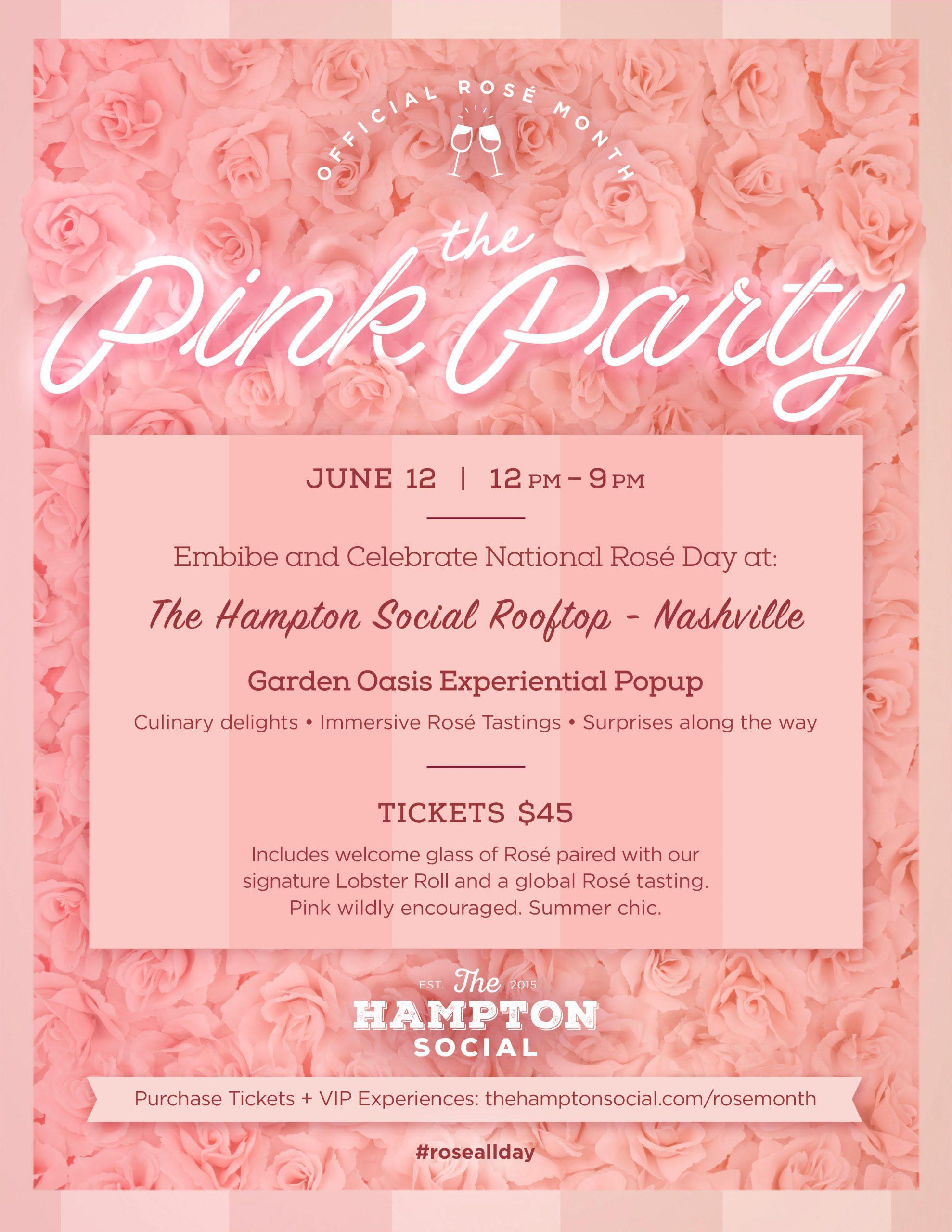 National Rosé Day Pink Party Hampton Social Nashville