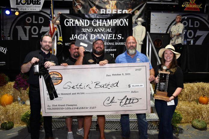 Gettin' Basted Grand Champions 2021 Jack Daniels