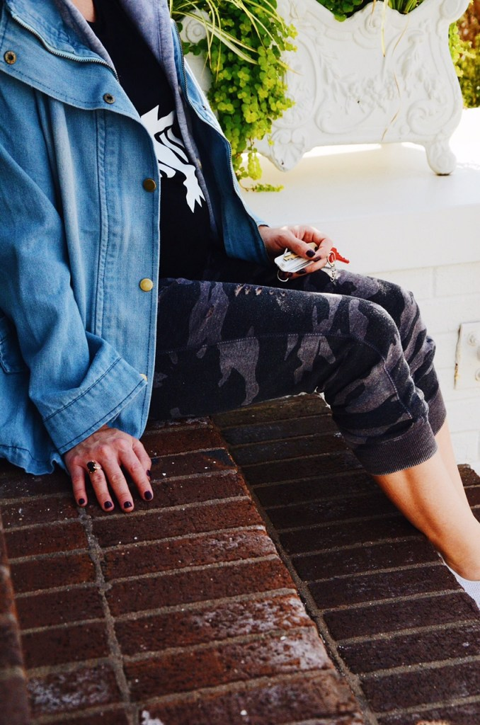 Hooded Denim: Camo Pants: Nashville Wifestyles