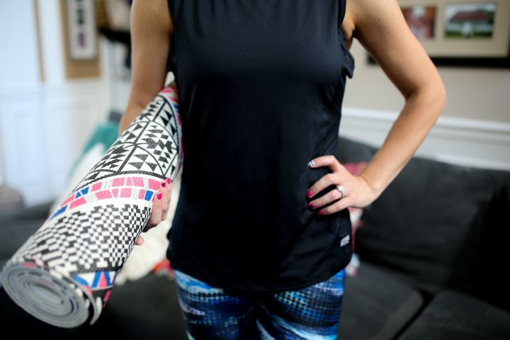 exercise at home. home workouts with kids. post partum fitness.