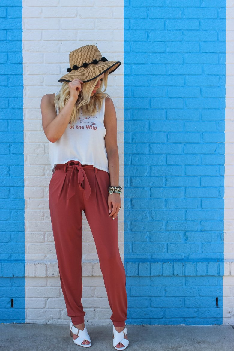 DRESSING DOWN HIGH WAISTED PANTS