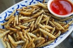 Жаренные черви