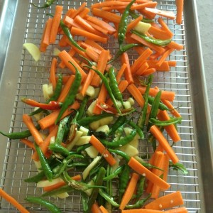 carrot and green chilli