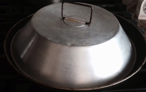 double frypan with lid