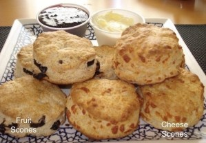 Fruit and cheese scones