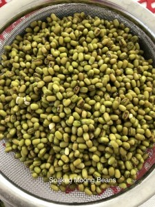 Soaked Moong Beans