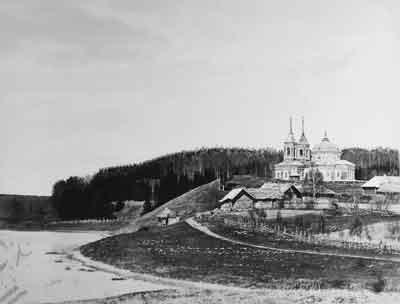 Церковь в имении А.С.Хомякова Липицы Сычевского уезда Смоленской губернии