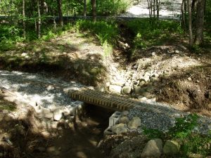 Culvert during dry season