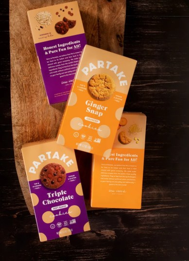 Partake Cookies, better for you cookies, allergen free cookies, allergen free snacks, minority owned business, vegan cookies, gluten free cookies, cookies,