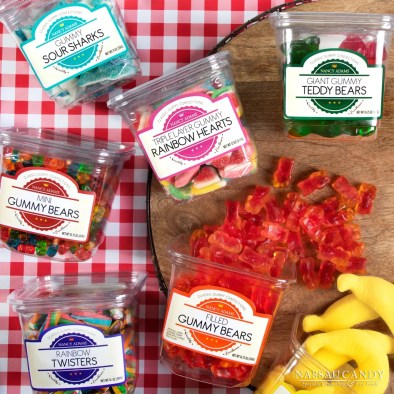 gummies, candy tubs, gummy bears, candy trends, candy sales,