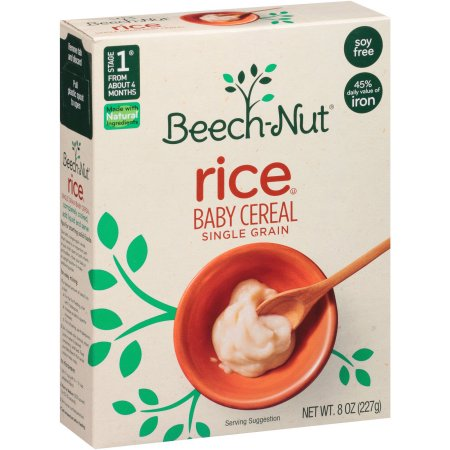 Beech Nut Stage 1 Single Grain Rice Baby Cereal 8 Oz Nassau Grocery