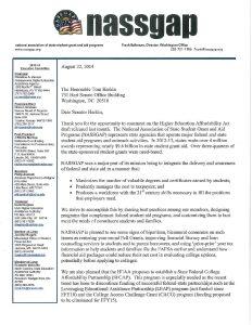 NASSGAP Comments to Senator Harkin on HEAA 8 22 14 pdf 232x300 - NASSGAP-Comments-to-Senator-Harkin-on-HEAA-8-22-14