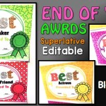 End of Year Student Awards:Editable,Superlative