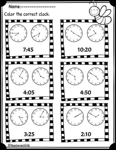 Free printable Telling Time worksheet.Great for 2nd grade.#math#worksheet#tellingtime