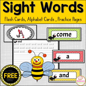 Wanting to set up the word wall in your classroom but don't know where to start?  Click through to download these free Sight word flash cards and practice pages. Print these flash cards for free and use on your word wall or sight word unit. Your students also can use practice sheets to improve their sight words skills in kindergarten or first grade.  #sightwords #sightwordactivities #wordwork #prek #kindergarten #firstgrade #spelling #literacy #literacycenters #earlyliteracy