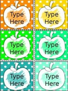 Editable Apple Labels