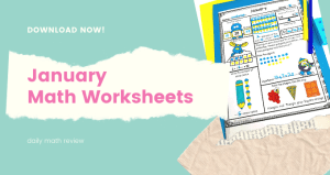 Daily Math Review 1st Grade includes 20 worksheets with the variety of problems that are reviewed on one page .These warm-up worksheets are designed to practice and review the math skills for grade 1 during January and Winter.