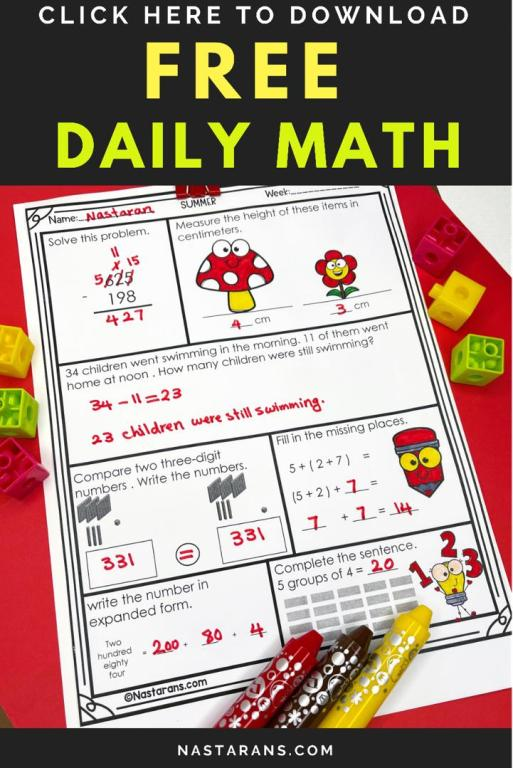 Daily Math Practice 2nd Grade Free For teachers