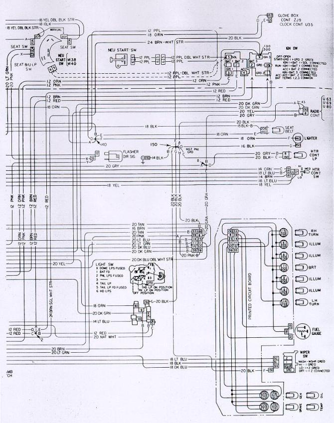 1969 camaro under dash wiring diagram  center wiring