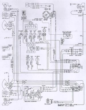 1978 Camaro Engine & Forward Light Wiring Schematic