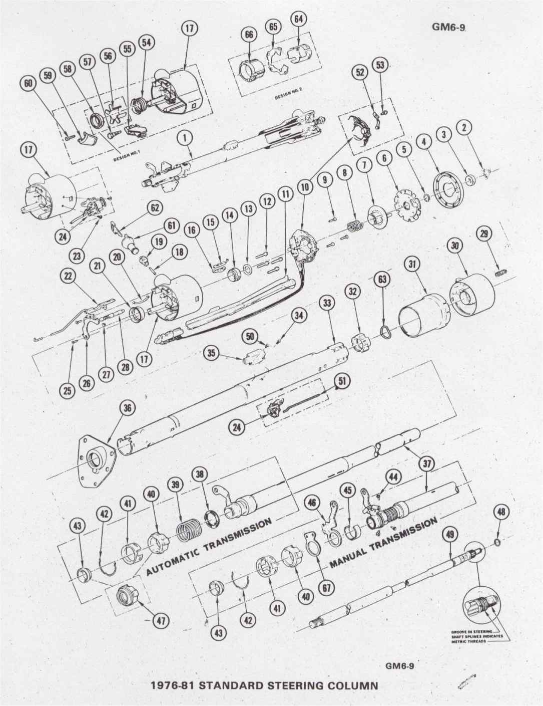 1973 camaro pdm assembly service info chevy truck steering parts diagram 1970 gm steering column diagram