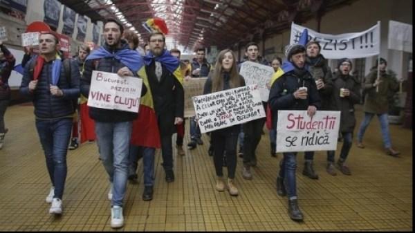 studenti-cluj-protest-bucuresti
