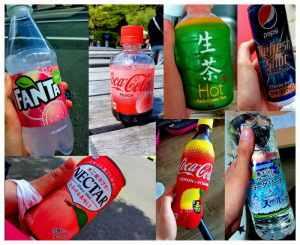 Napoje w Japonii są jak wszystko inne bardzo kolorowe