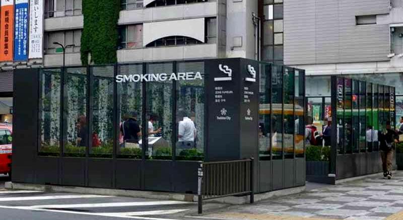 Palenie na ulicy w Japonii