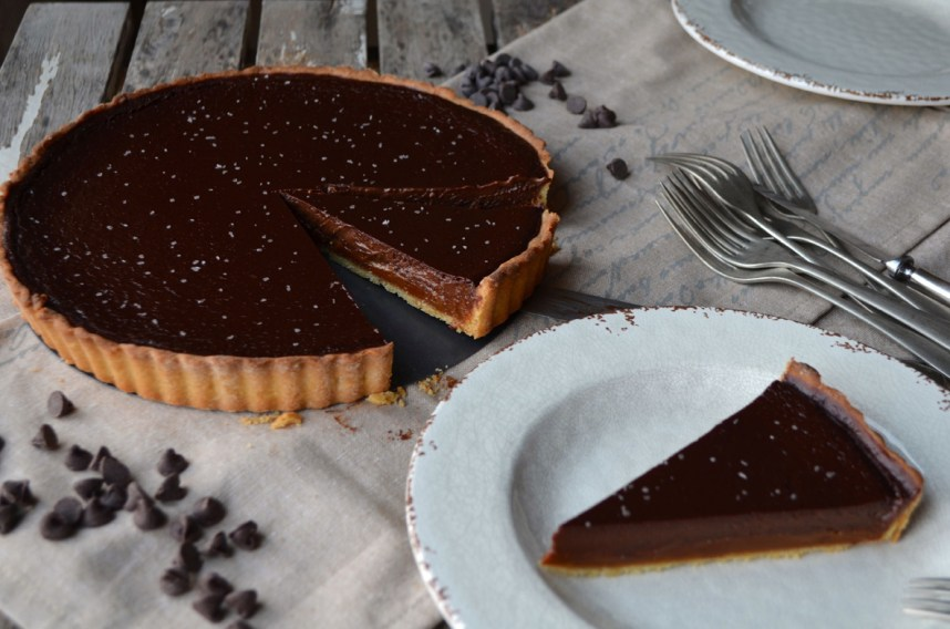 Dulce de Leche and Chocolate Tart