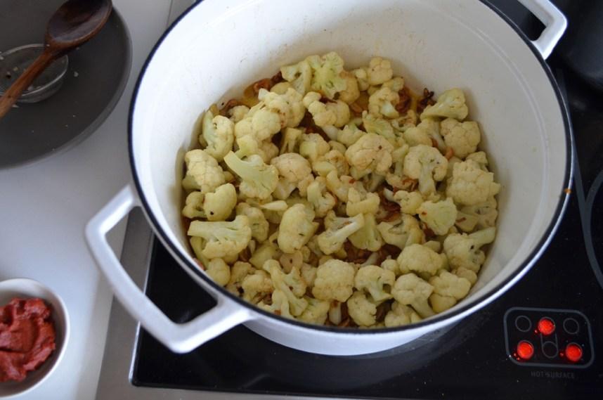 Cod and cauliflower soup with rice, Mama ía