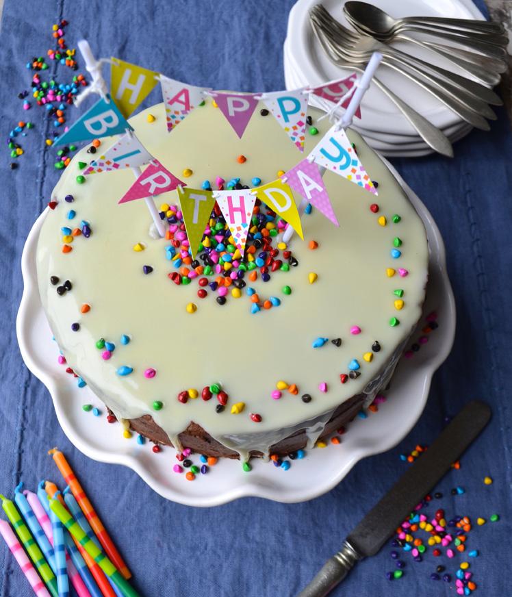 White and Dark Chocolate Birthday Cake and a jazz concert MAMA A