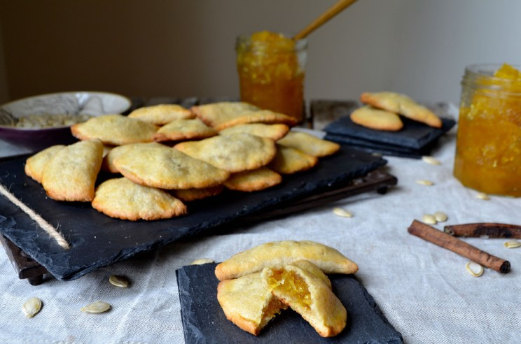 Candied pumpkin fiber almond turnovers, Mama Ía
