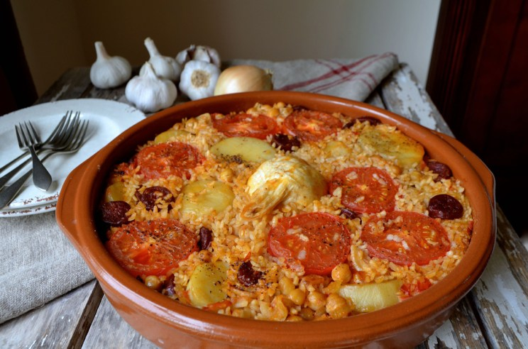 Arroz al horno, hearty baked rice, Mama ía