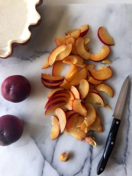 Plum blackberry crumble pie, Mama ía