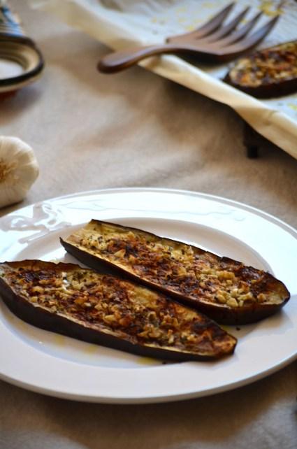 Oven baked eggplant with pimentón, Mama Ía blog