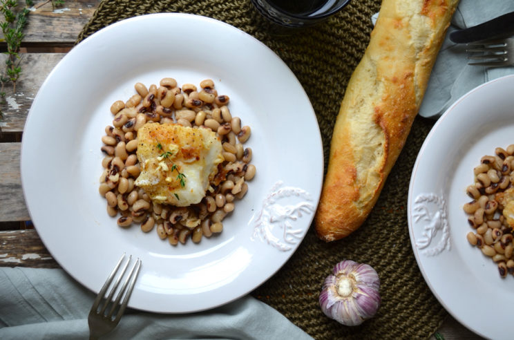 Braised cod with white beans, Mama ía blog