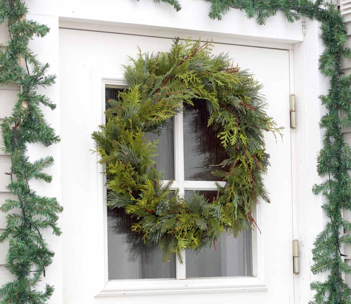 natalia lindberg trädgårdsdesign - juldekoration entré krans