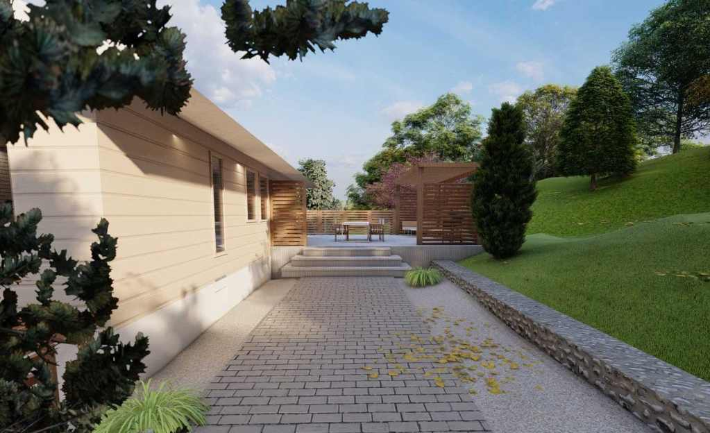 3d trädgårdsdesign natalia lindberg trädgårdsarkitekt göteborg stengång altan