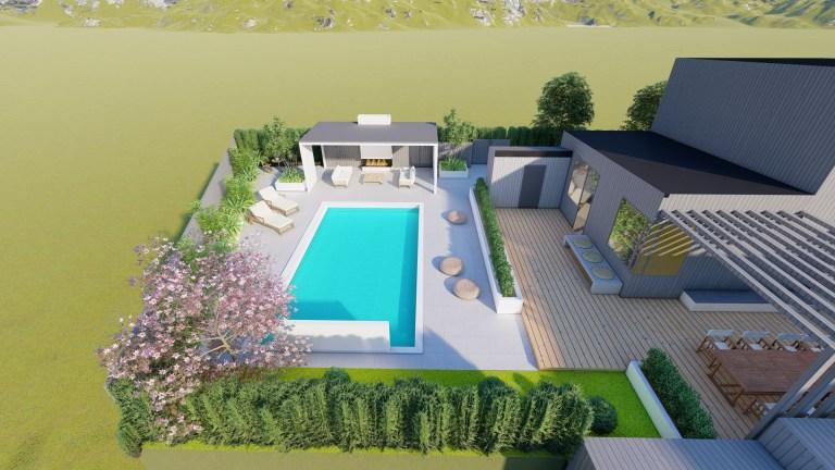 Trädgårdsarkitekt i Göteborg - Natalia Lindberg trädgårdsdesign - pergola pool