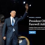 Obama farewell speech in Chicago