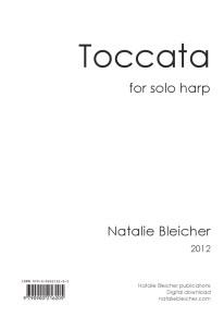 Toccata cover page